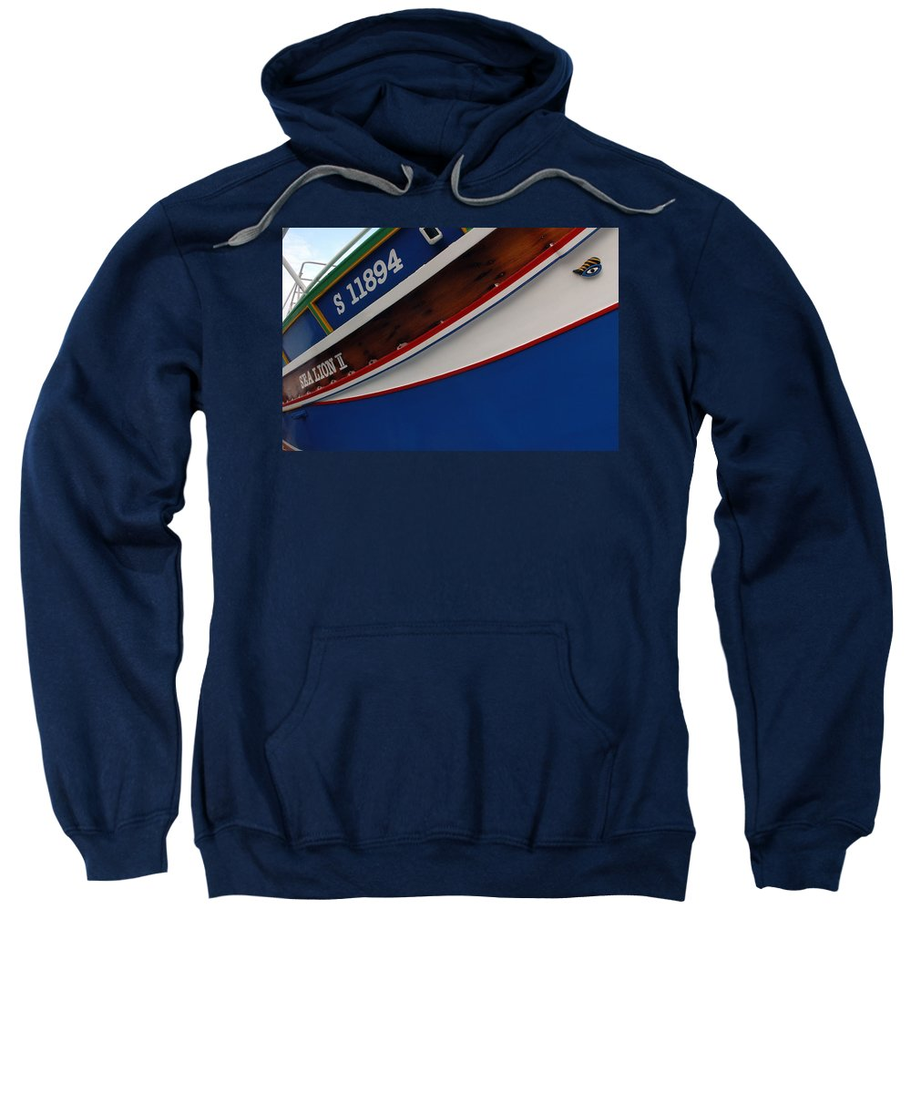 Boat. Ship Sweatshirt featuring the photograph Boat by Cliff Norton