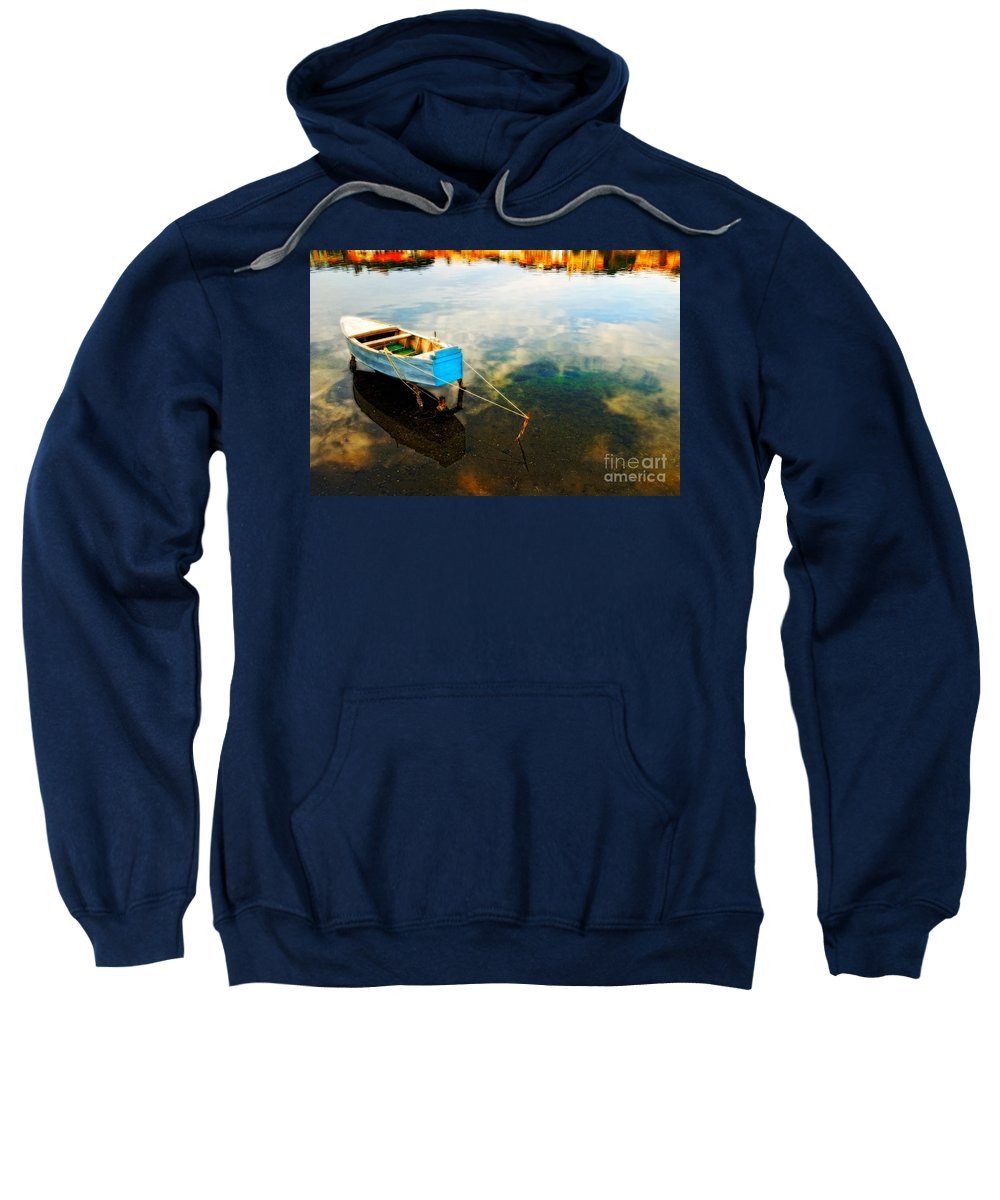 Boat Sweatshirt featuring the photograph Boat by Silvia Ganora