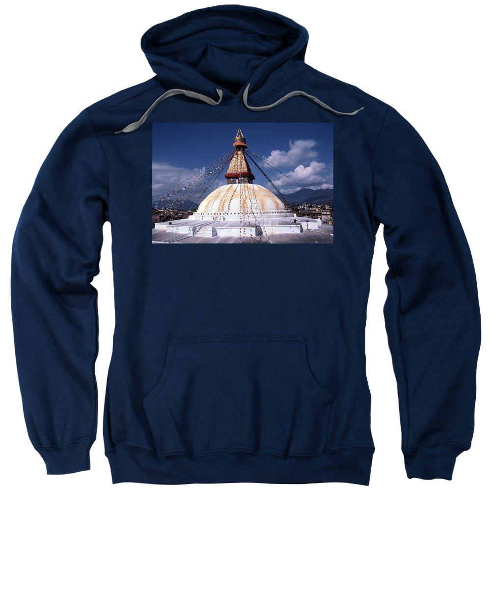 Bodhnath Stupa Sweatshirt featuring the photograph Bodhnath Stupa by Patrick Klauss
