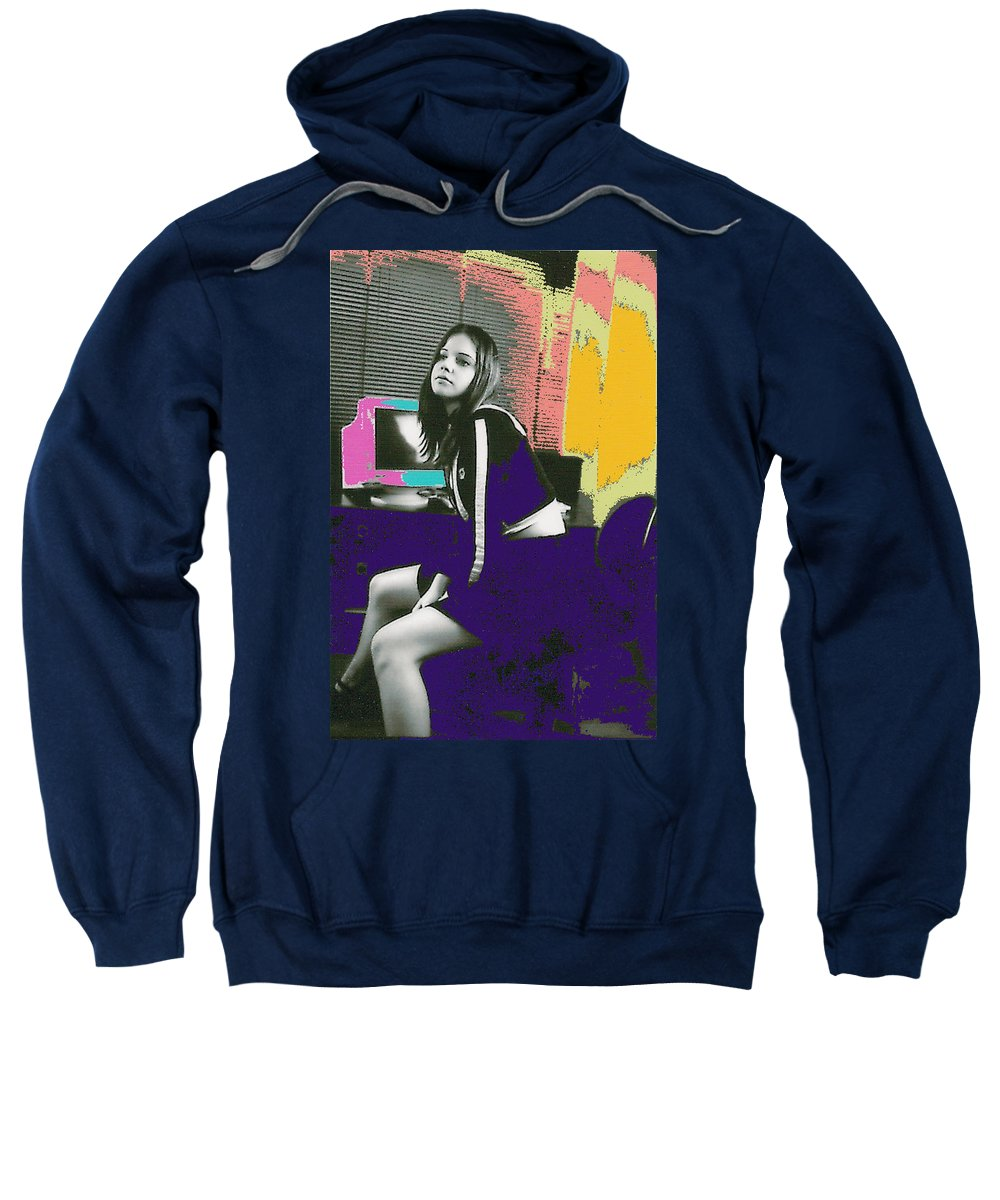Young Girl Sweatshirt featuring the photograph Bored... by Bjorn Sjogren