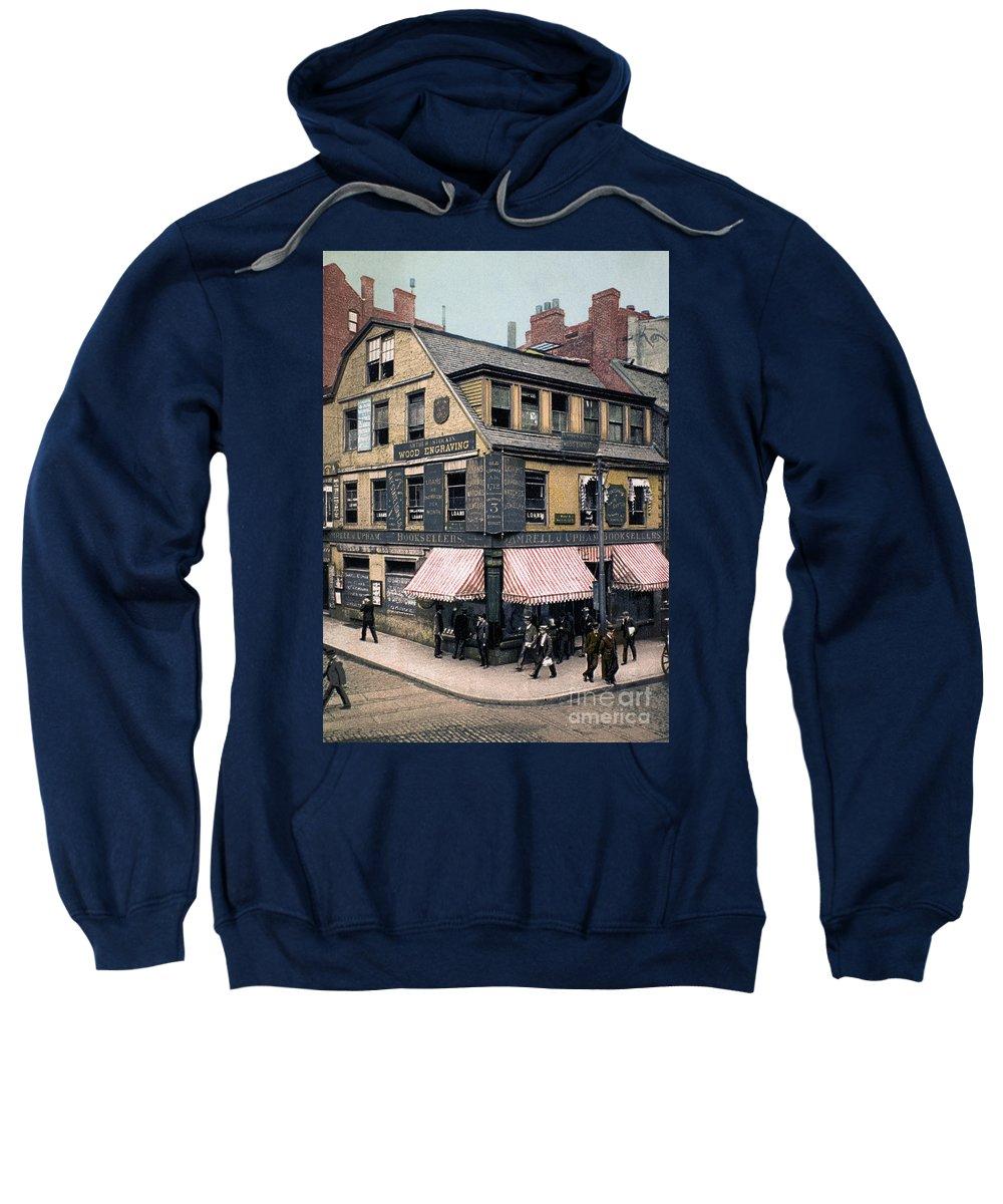 1900 Sweatshirt featuring the photograph Boston: Bookshop, 1900 by Granger