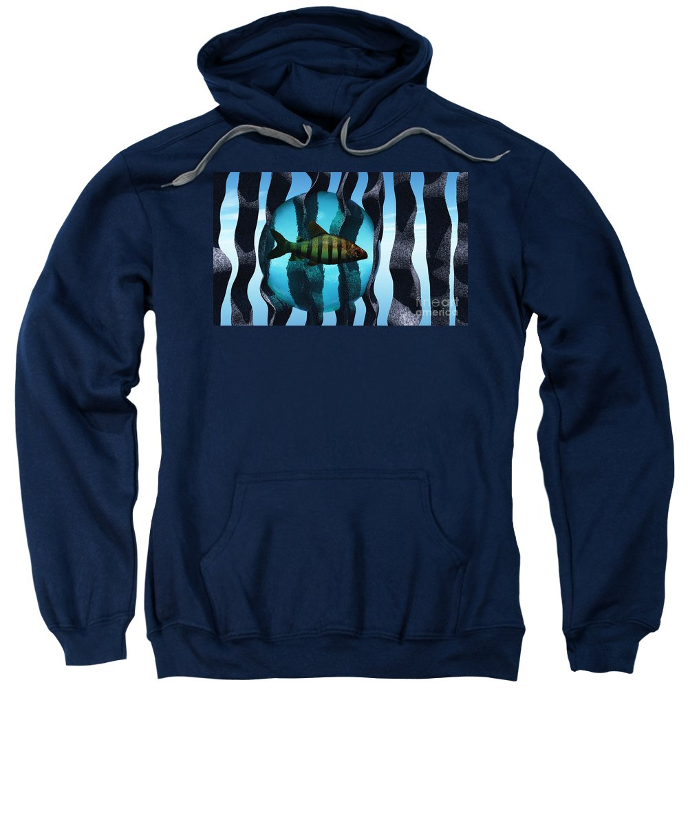 Surreal Sweatshirt featuring the digital art Bound by Richard Rizzo