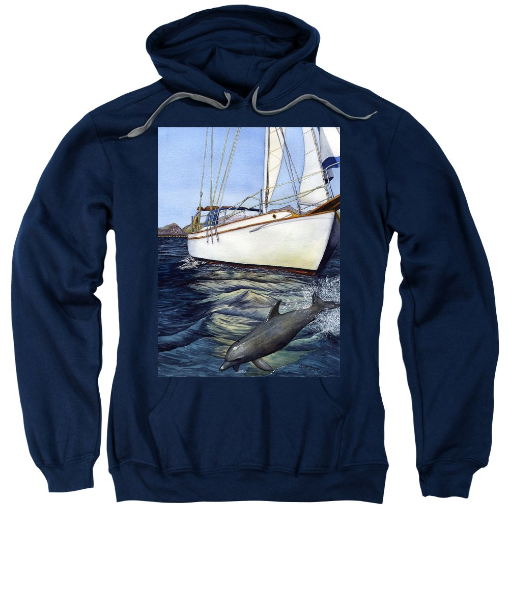 Sailing Sweatshirt featuring the painting Brief Encounter by Catherine G McElroy