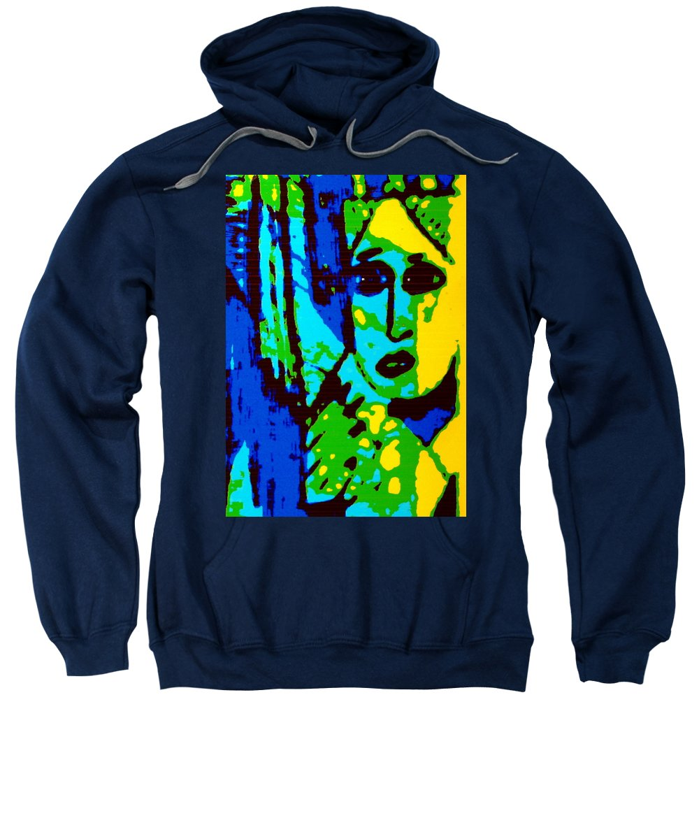 Female Sweatshirt featuring the painting Broken Promises by Natalie Holland