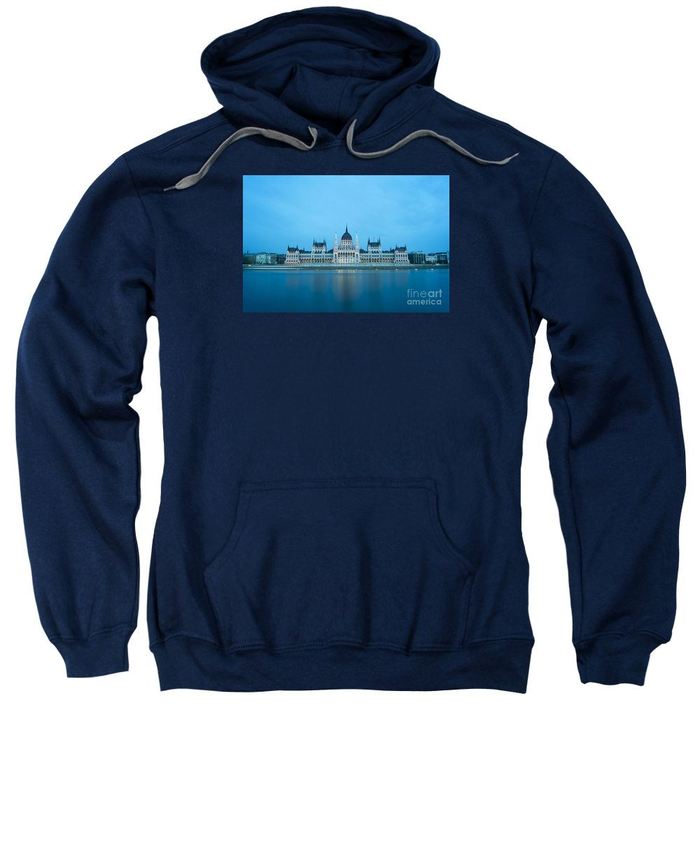 Budapest Sweatshirt featuring the photograph Budapest Parliament Building by Bojan Bokic
