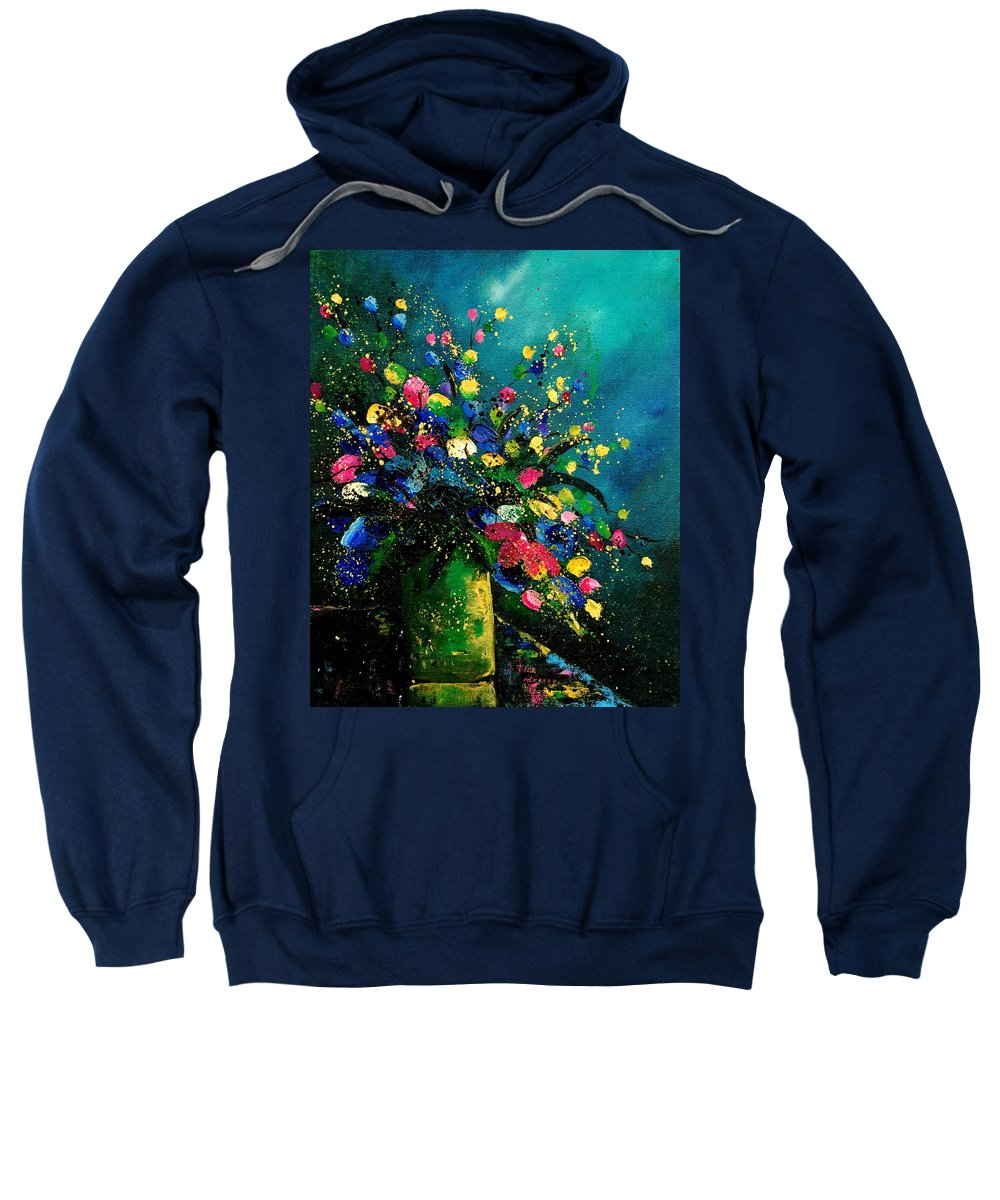 Flowers Sweatshirt featuring the painting Bunch 0807 by Pol Ledent