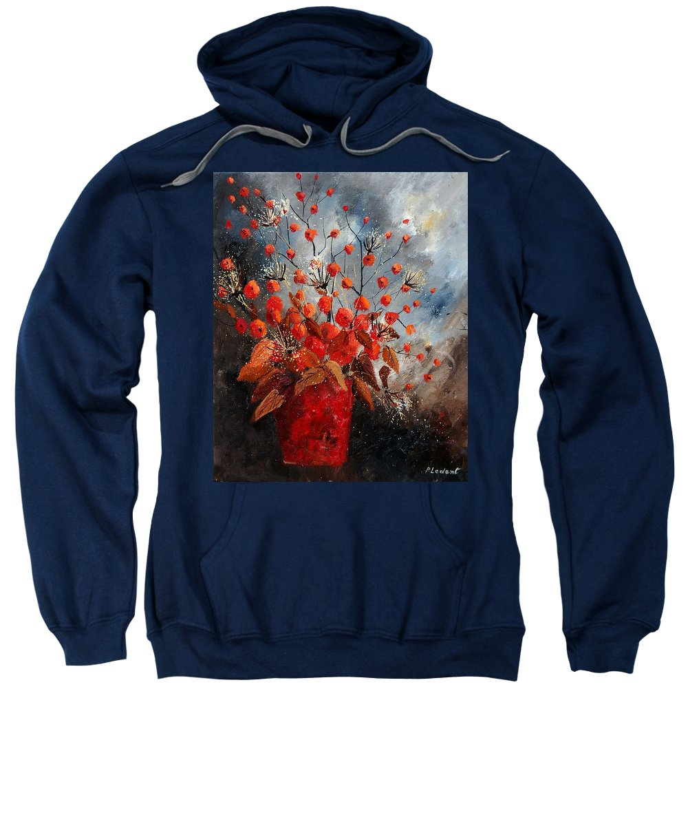 Flowers Sweatshirt featuring the painting Bunch 560608 by Pol Ledent