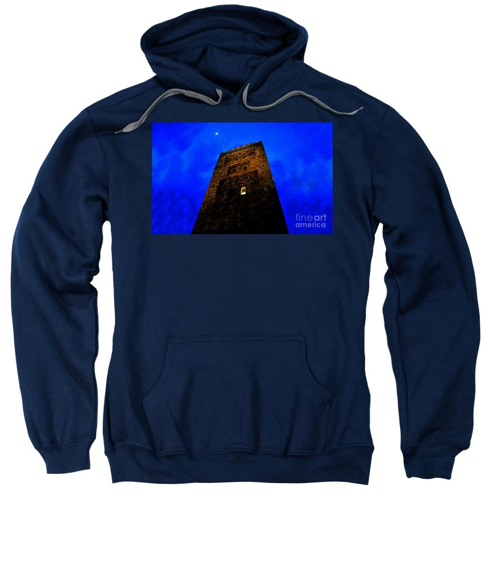 Castle Sweatshirt featuring the painting Burning The Midnight Oil by David Lee Thompson