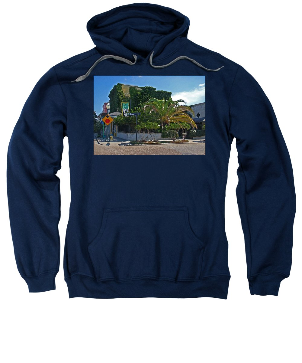 Mobile Sweatshirt featuring the digital art Cafe 615 by Michael Thomas