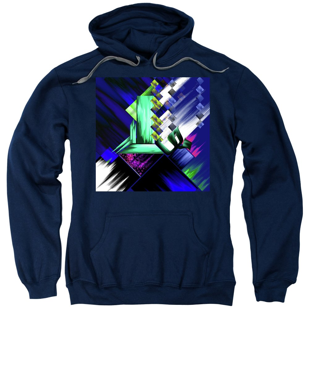 Abstract Sweatshirt featuring the painting Calligraphy 105 4 by Mawra Tahreem