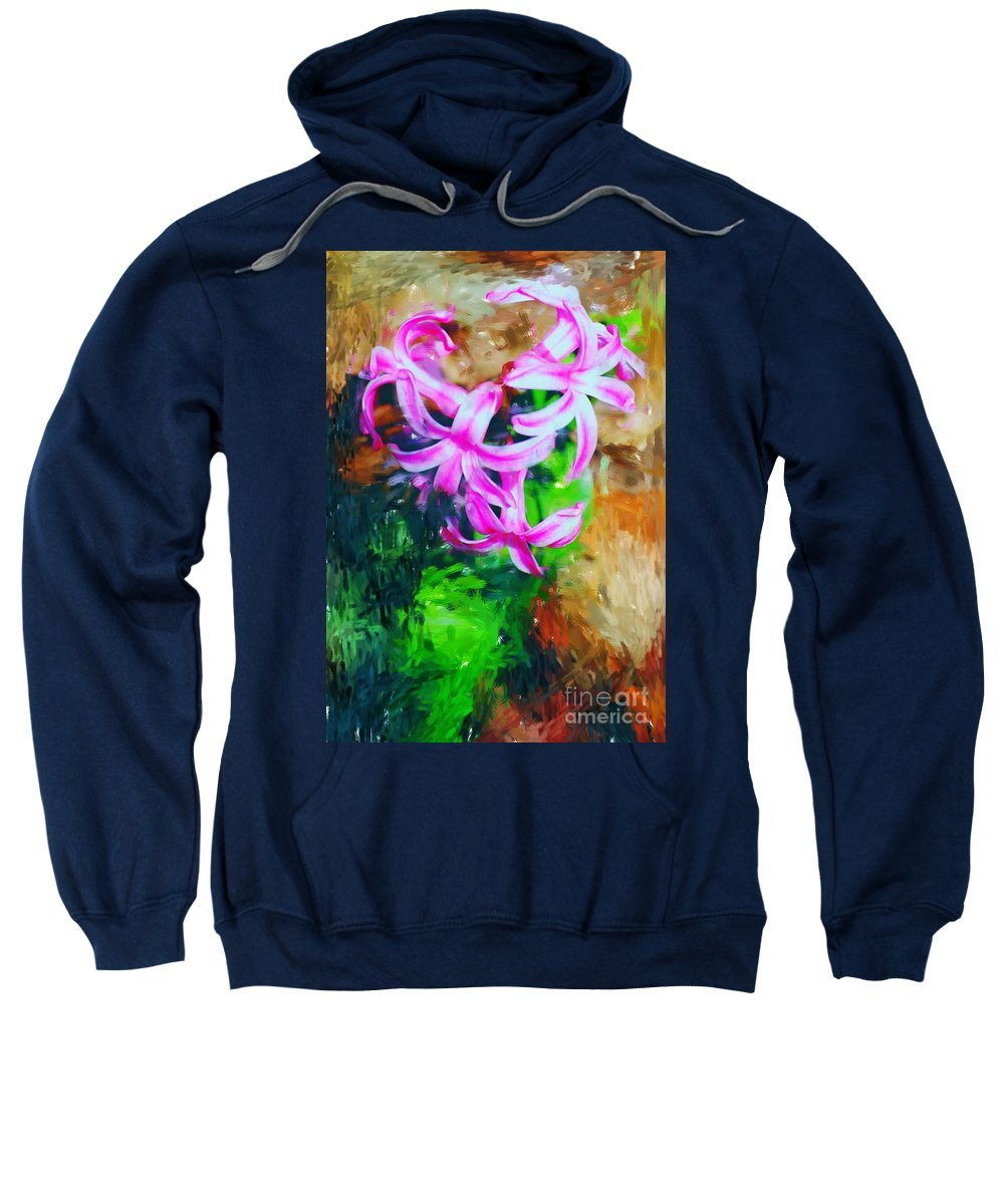 Sweatshirt featuring the photograph Candy Striped Hyacinth by David Lane