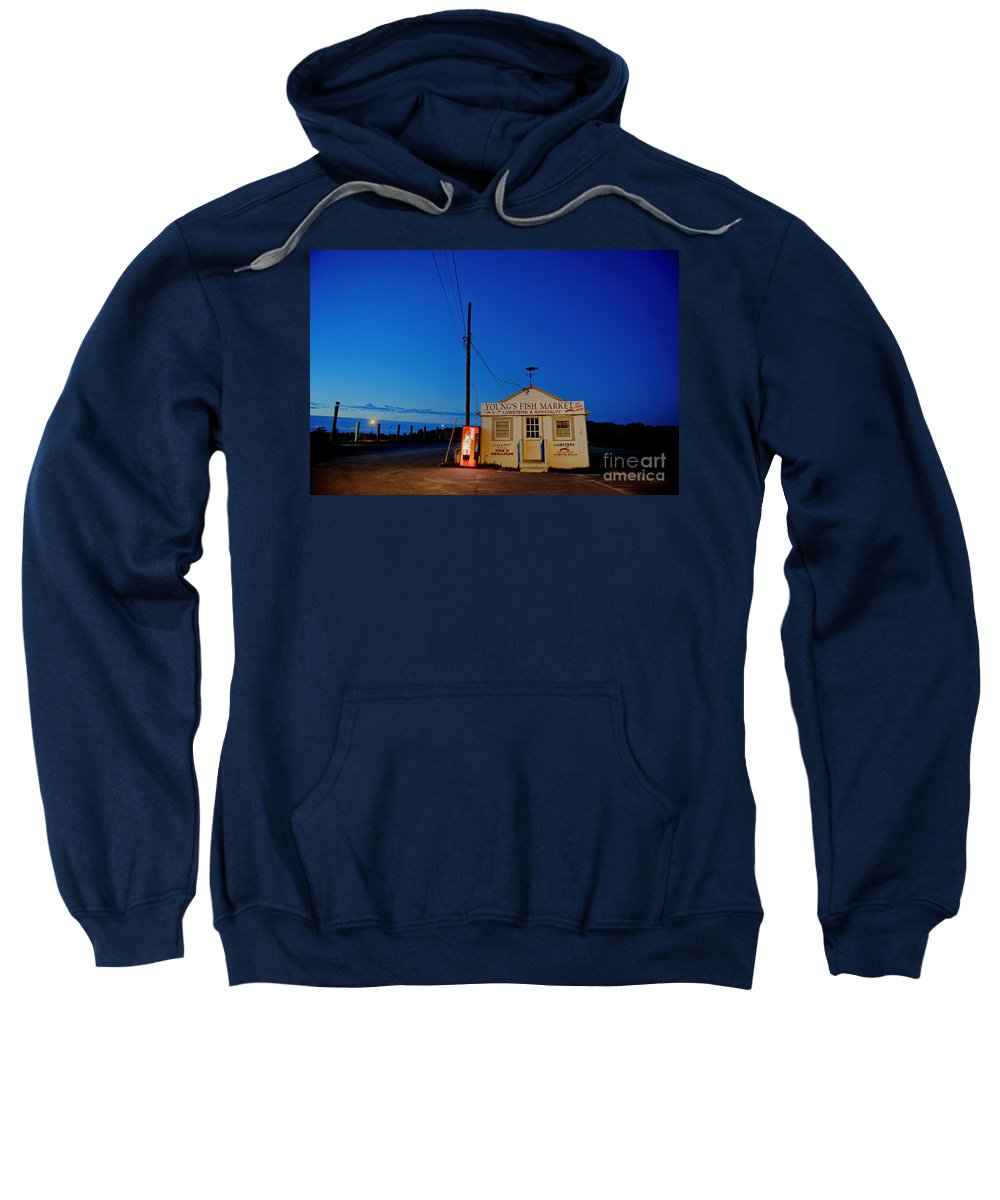Fish Market Sweatshirt featuring the photograph Cape Cod Fish Market by John Greim