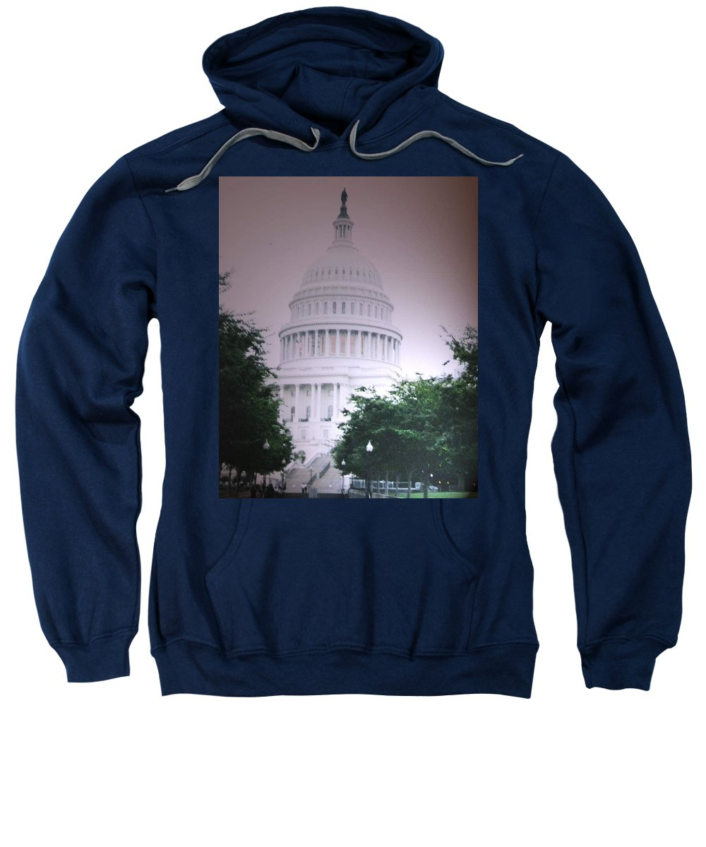 Capitol Sweatshirt featuring the photograph Capitol in Pink by Pharris Art