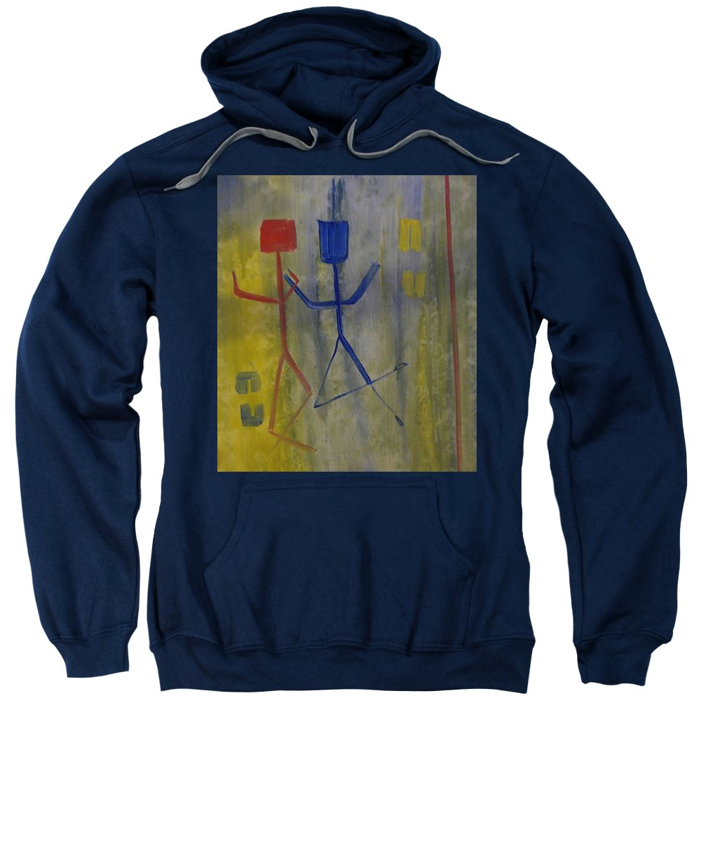 Abstract Sweatshirt featuring the painting Carefree by Hope Bullard