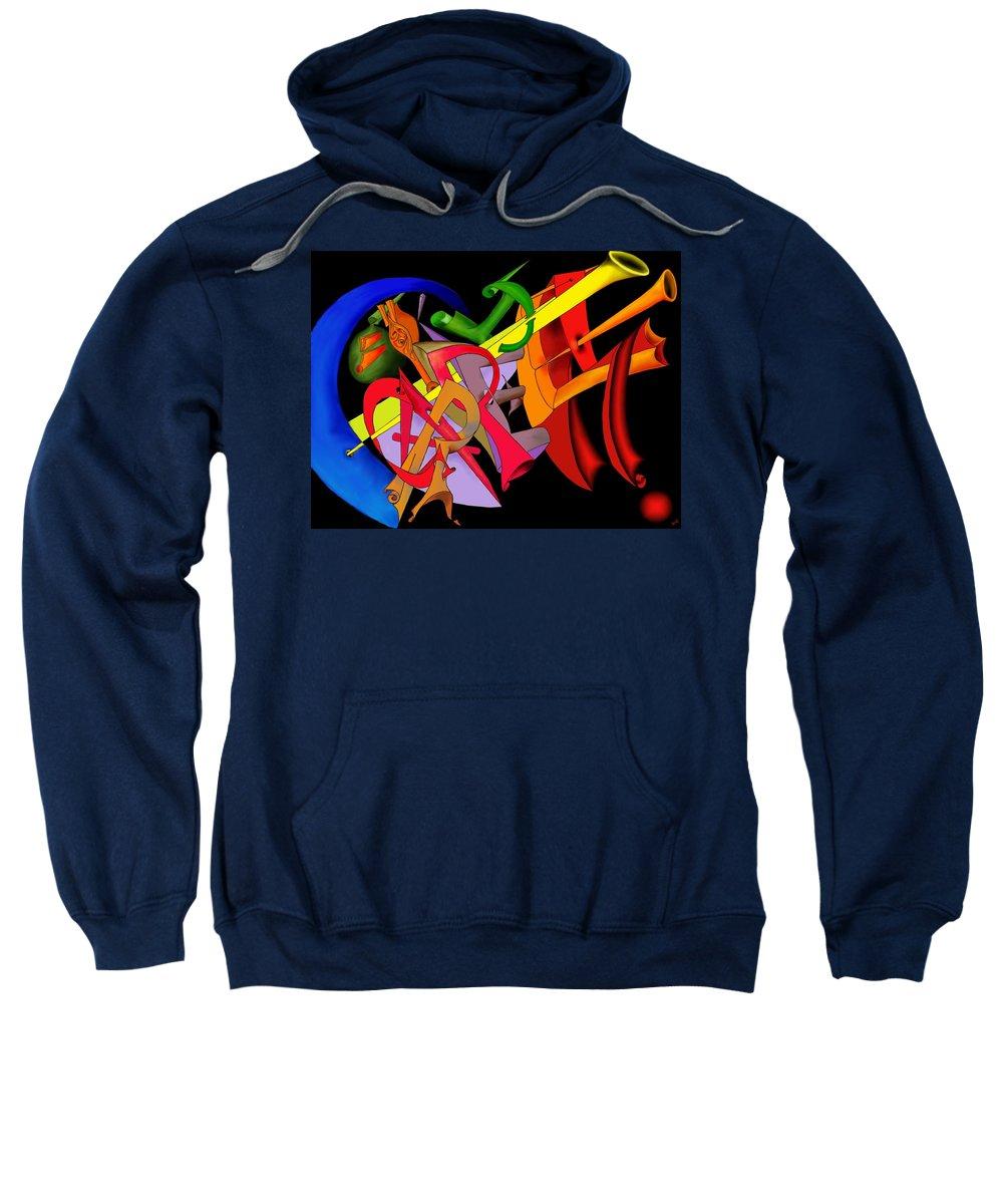 'carpe Diem' Sweatshirt featuring the digital art Carpe Diem II by Helmut Rottler