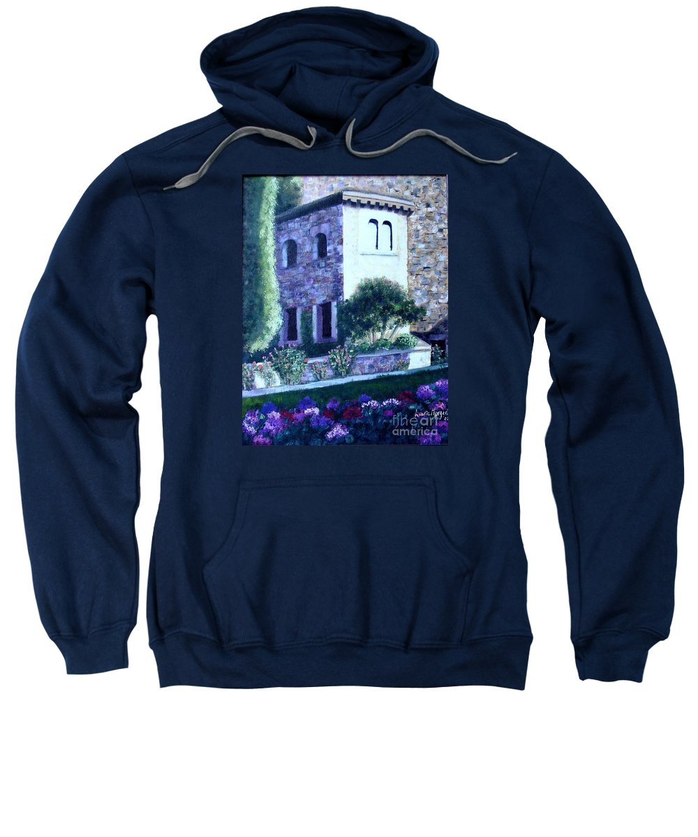Italy Sweatshirt featuring the painting Castle Sestri Levante by Laurie Morgan