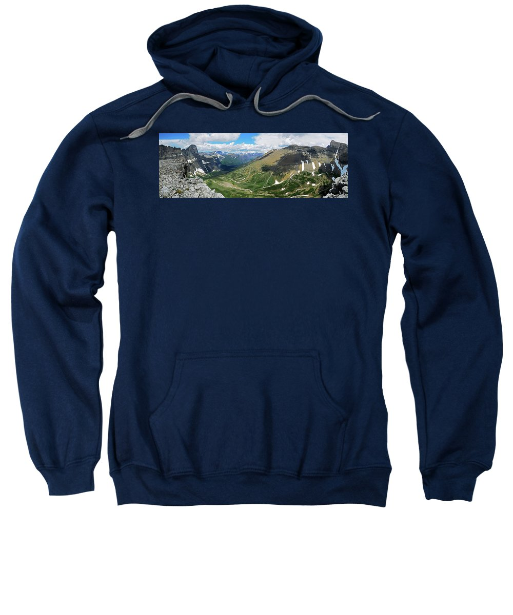 Glacier National Park Sweatshirt featuring the photograph Cataract by Wildscape Panoramas