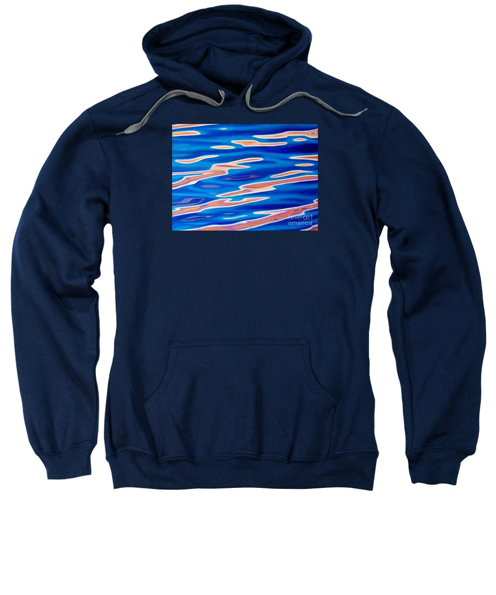 Ocean Sweatshirt featuring the painting Catch The Wind by Brian Commerford