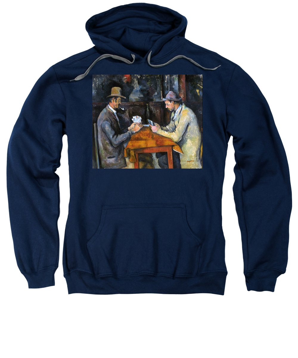 Aod Sweatshirt featuring the photograph Cezanne: Card Player, C1892 by Granger
