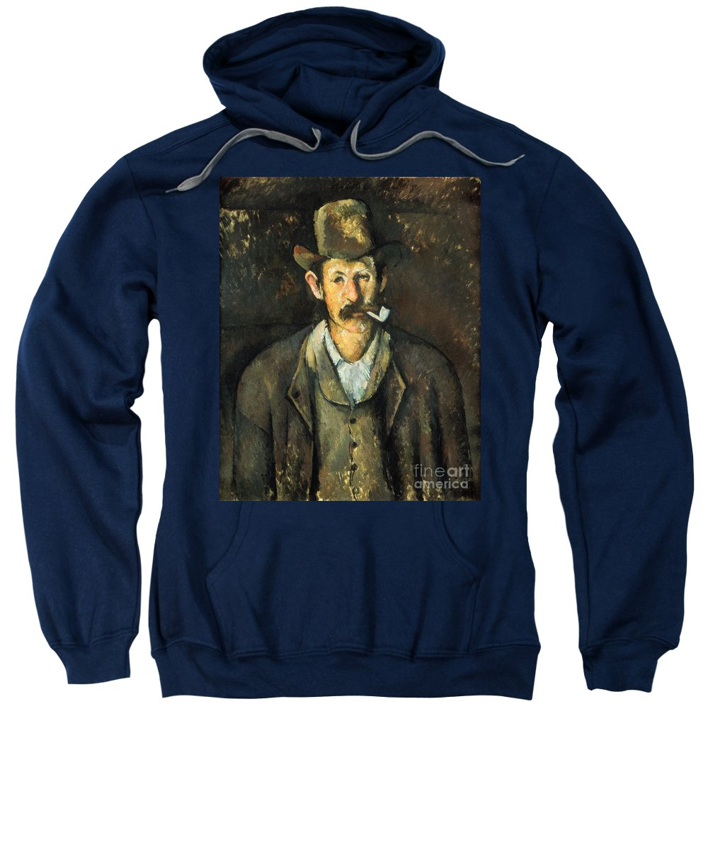 1892 Sweatshirt featuring the photograph Cezanne: Pipe Smoker, C1892 by Granger