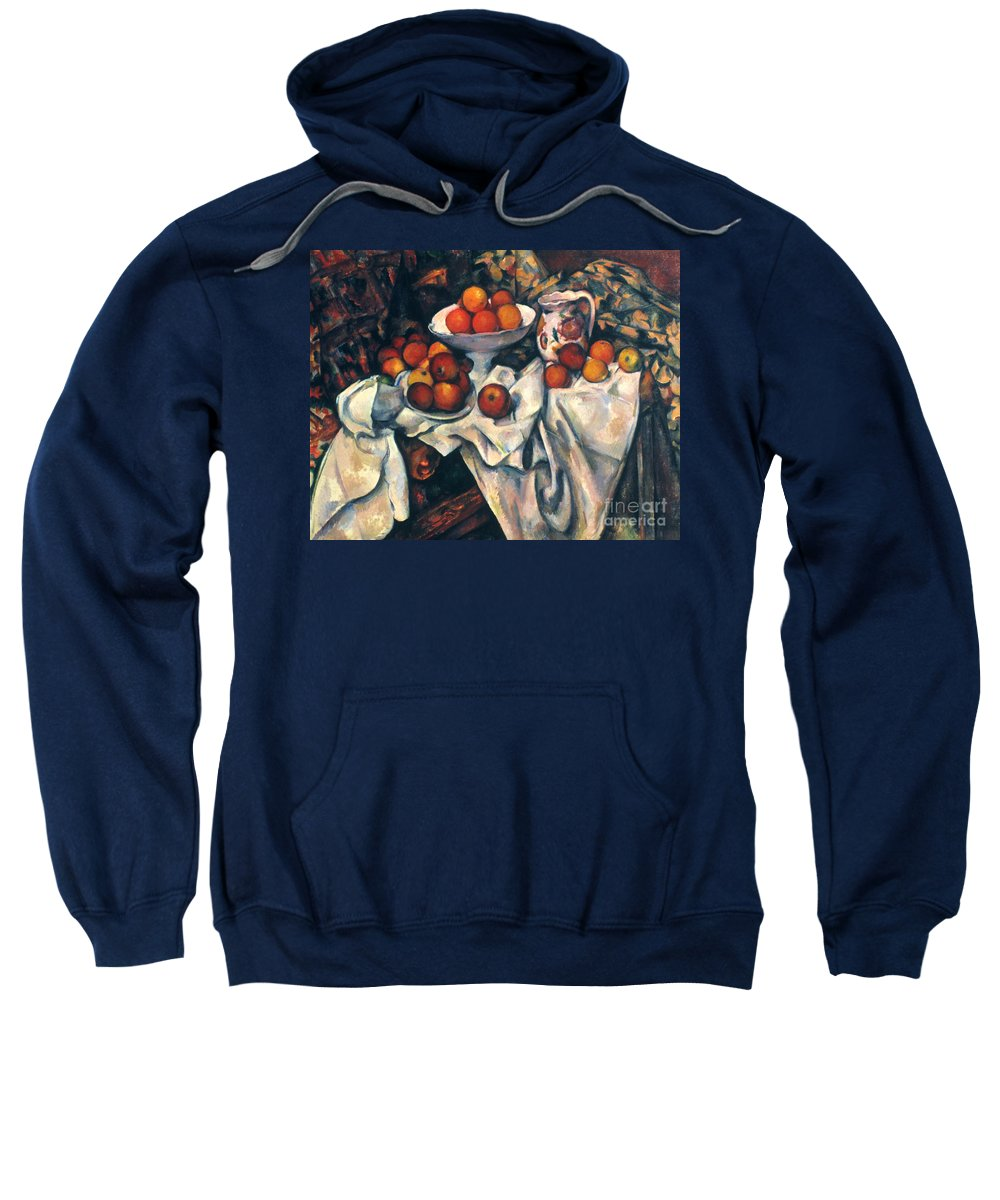 1890s Sweatshirt featuring the photograph Cezanne: Still Life, C1899 by Granger