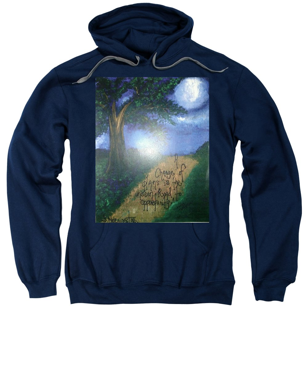 Sweatshirt featuring the painting Change by Sandra Morningstar