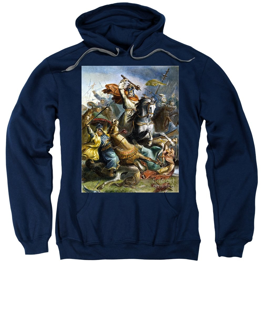 732 Sweatshirt featuring the photograph Charles Martel (c688-741) by Granger