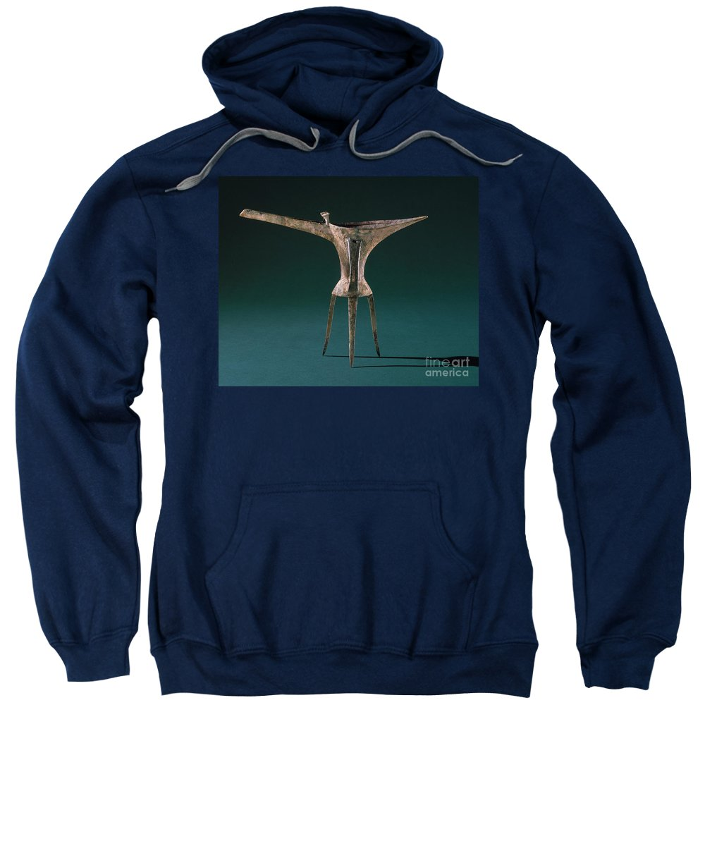 Ancient Sweatshirt featuring the photograph China: Bronze Pitcher by Granger