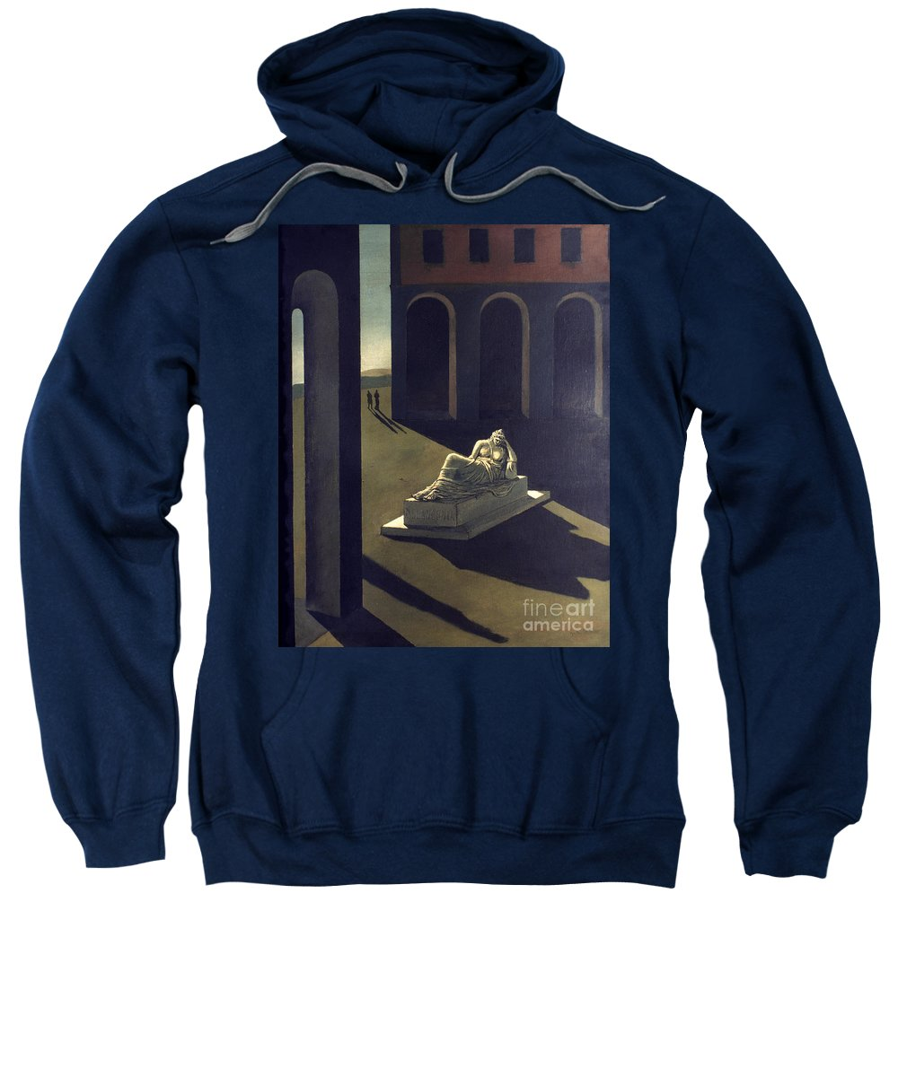 1914 Sweatshirt featuring the photograph Chirico: Melancolie, 1914 by Granger