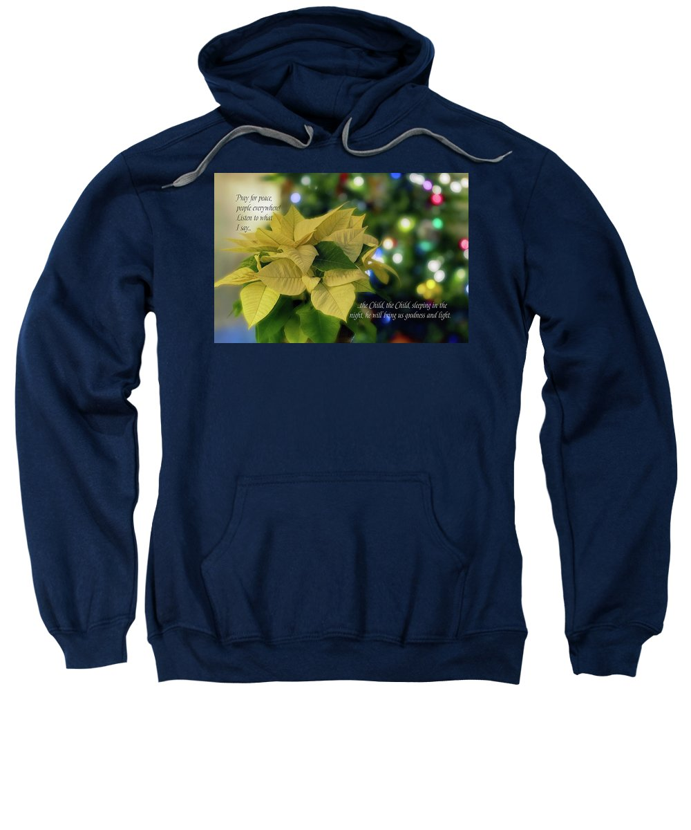 Christmas Sweatshirt featuring the digital art Christmas 3 by Terry Davis