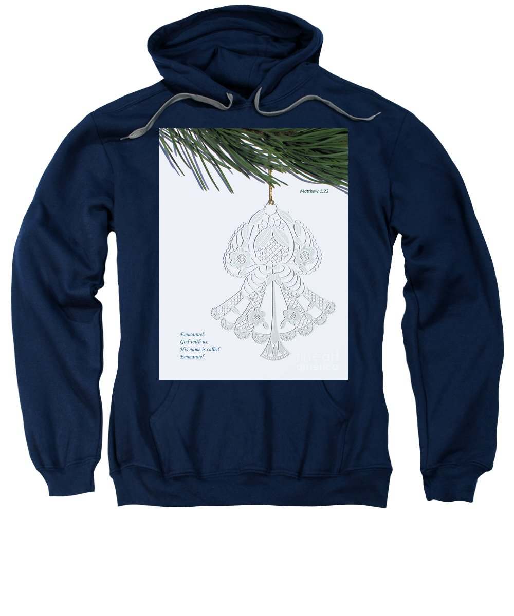 Christmas Sweatshirt featuring the photograph Christmas Angel by Ann Horn