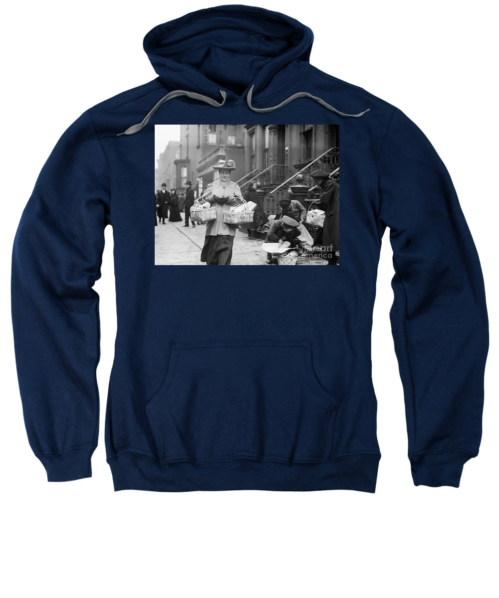 1908 Sweatshirt featuring the photograph Christmas Dinner, 1908 by Granger