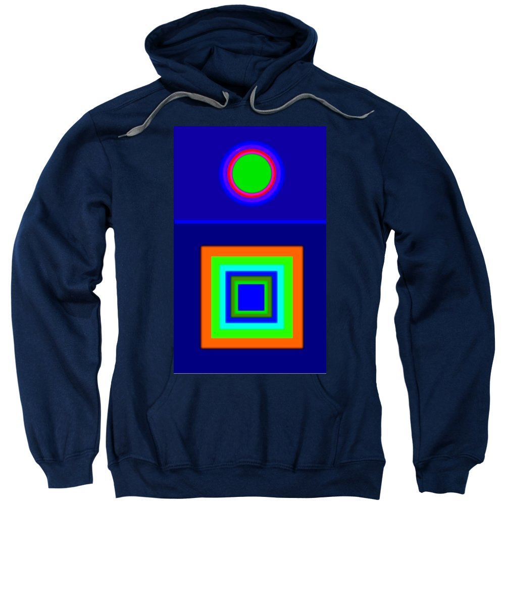 Classical Sweatshirt featuring the painting Classical Blue by Charles Stuart