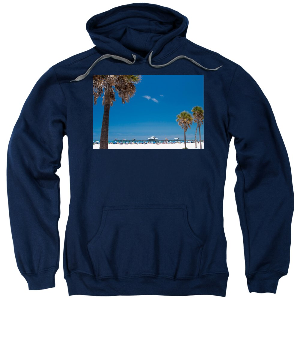 3scape Sweatshirt featuring the photograph Clearwater Beach by Adam Romanowicz