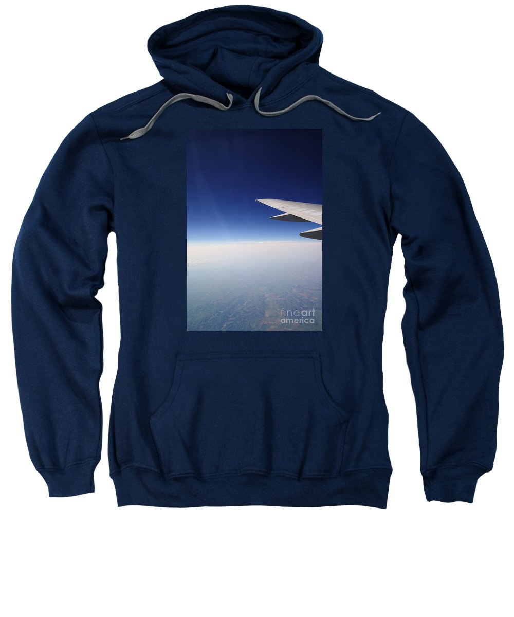 Airplane Sweatshirt featuring the photograph Climb Higher by Linda Shafer