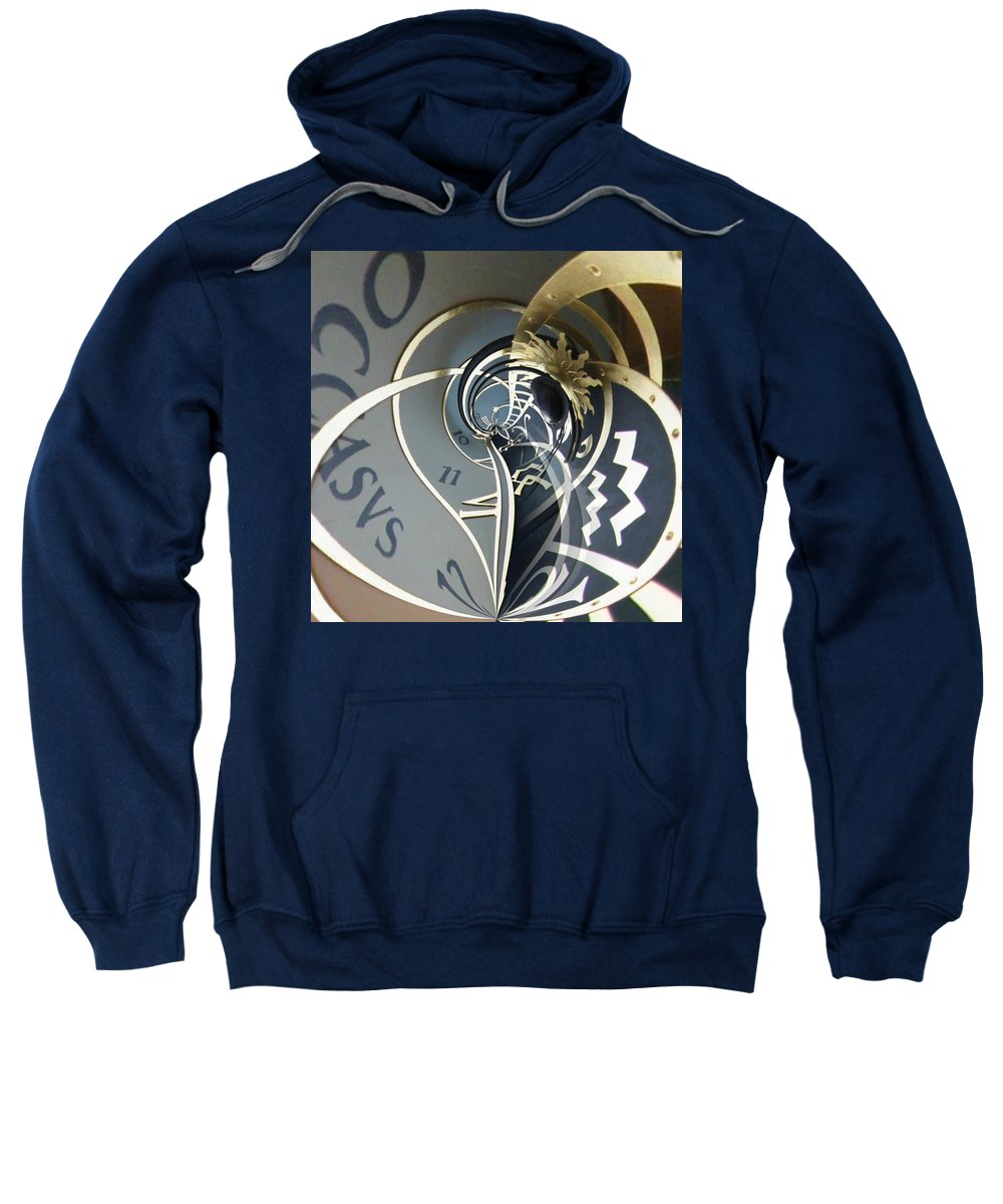 Clock Sweatshirt featuring the photograph Clockface 4 by Philip Openshaw