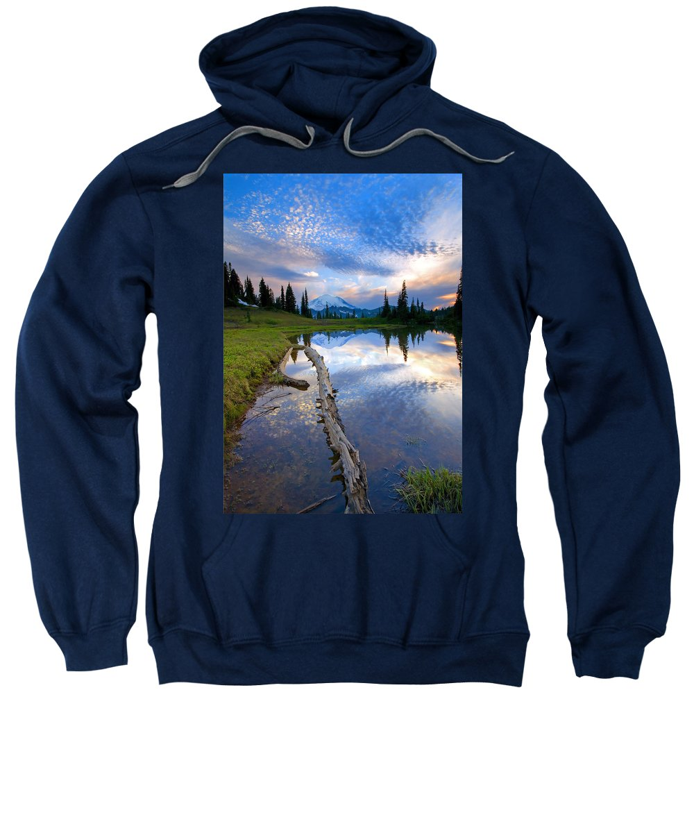 Landscape Sweatshirt featuring the photograph Cloud Explosion by Mike Dawson