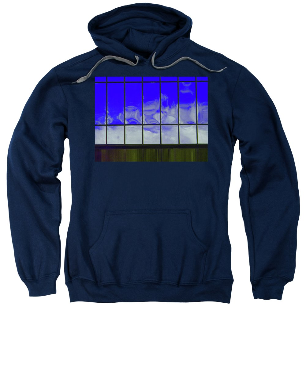Abstract Sweatshirt featuring the photograph Clouds Reflected by Lenore Senior