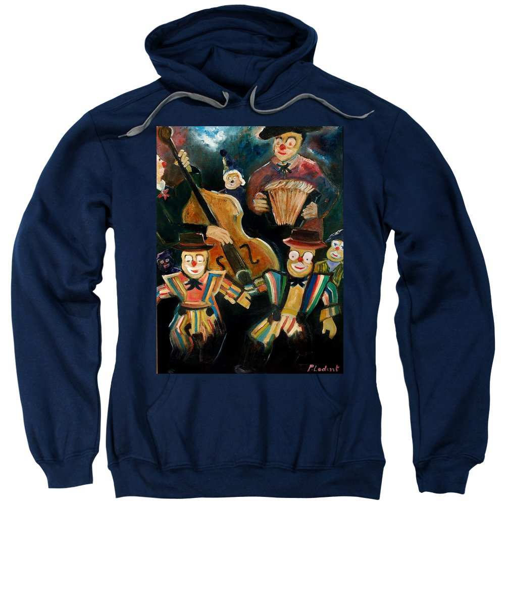 Clowns Circus Sweatshirt featuring the print Clowns by Pol Ledent