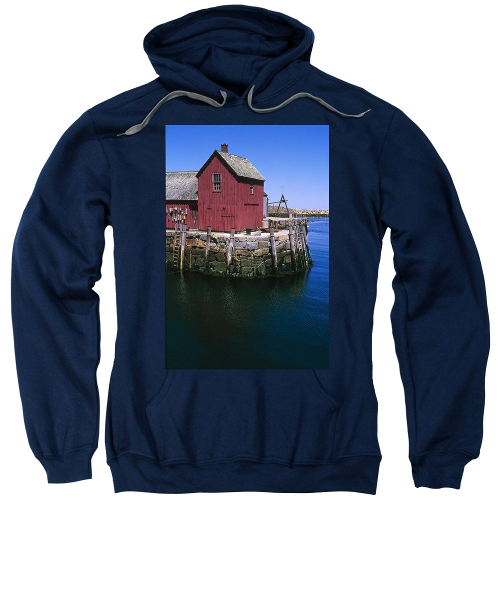 Landscape New England Rockport Motif Number 1 Sweatshirt featuring the photograph Cnrf0506 by Henry Butz