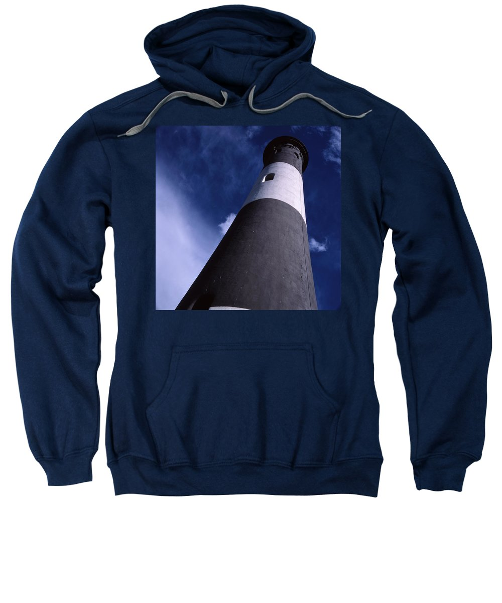 Landscape Lighthouse Fire Island Sweatshirt featuring the photograph Cnrf0701 by Henry Butz