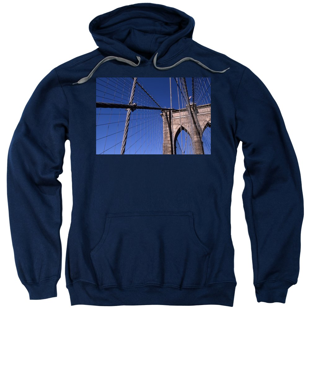 Landscape Brooklyn Bridge New York City Sweatshirt featuring the photograph Cnrg0405 by Henry Butz