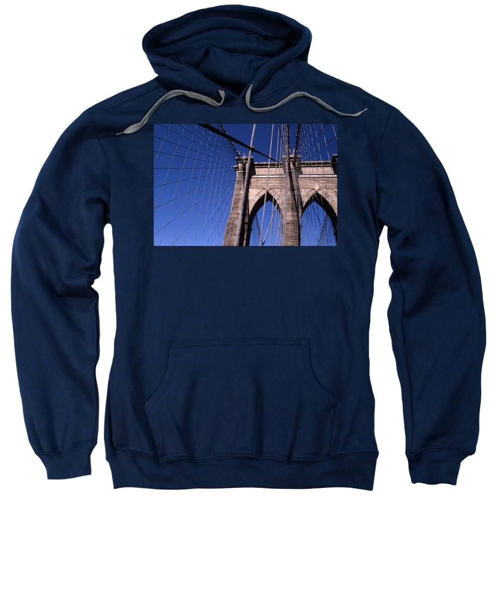 Landscape Brooklyn Bridge New York City Sweatshirt featuring the photograph Cnrg0406 by Henry Butz