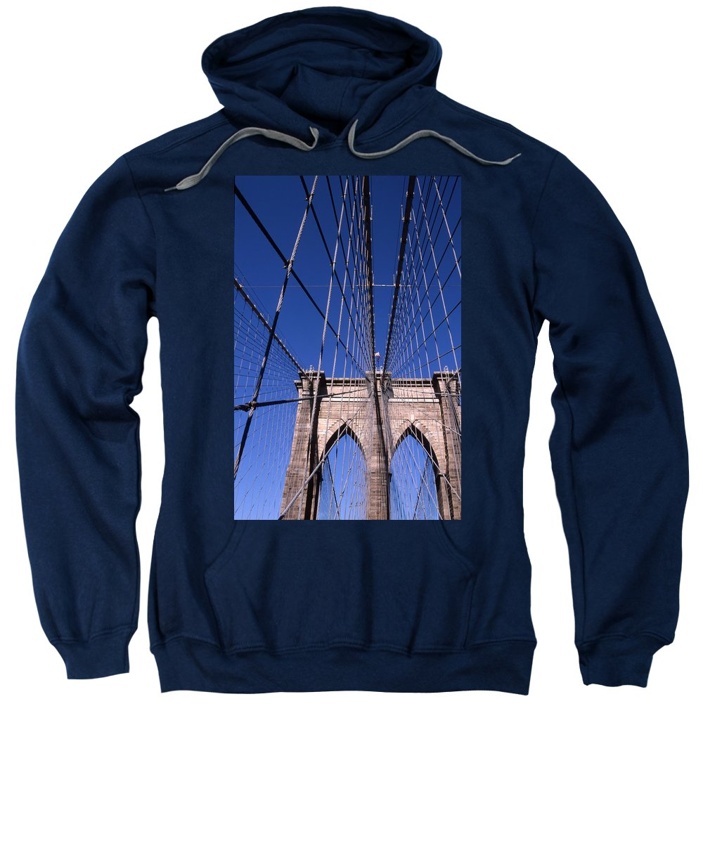 Landscape Brooklyn Bridge New York City Sweatshirt featuring the photograph Cnrg0407 by Henry Butz