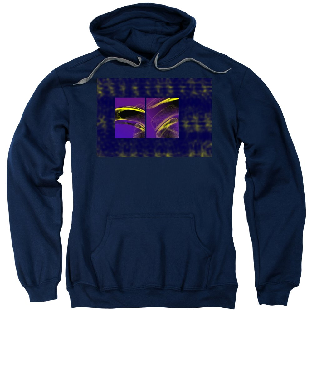 Abstract Sweatshirt featuring the digital art Cobra by Steve Karol