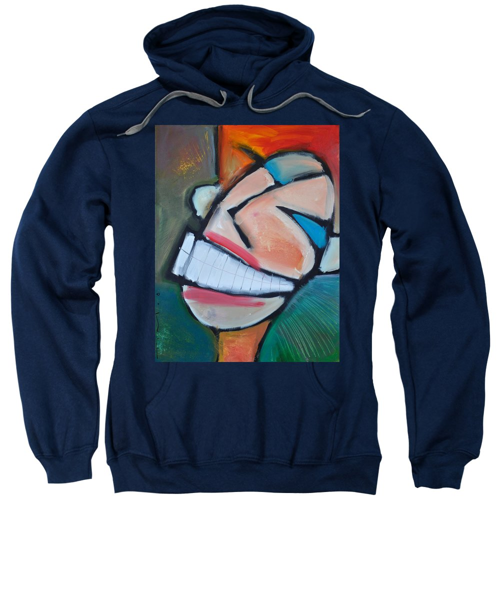 Smile Sweatshirt featuring the painting Coconut Bread by Tim Nyberg