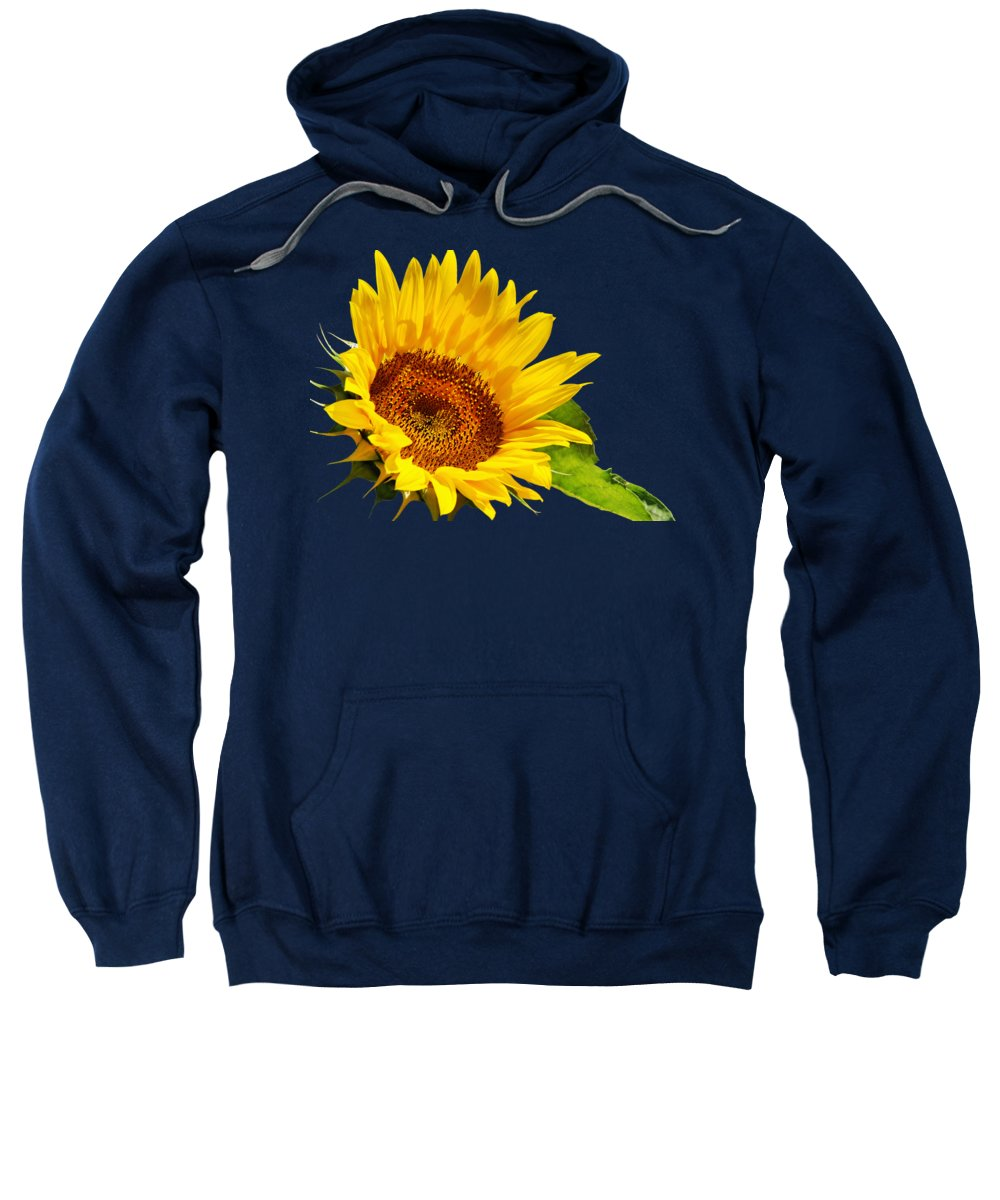Sunflower Sweatshirt featuring the photograph Color Me Happy Sunflower by Christina Rollo