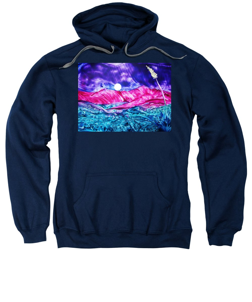 Bold Sweatshirt featuring the print Colorful Desert by Melinda Etzold