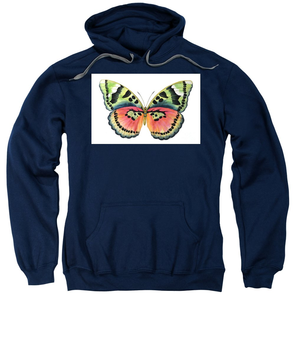 Butterflies Sweatshirt featuring the painting Common Pink Forester by Lucy Arnold