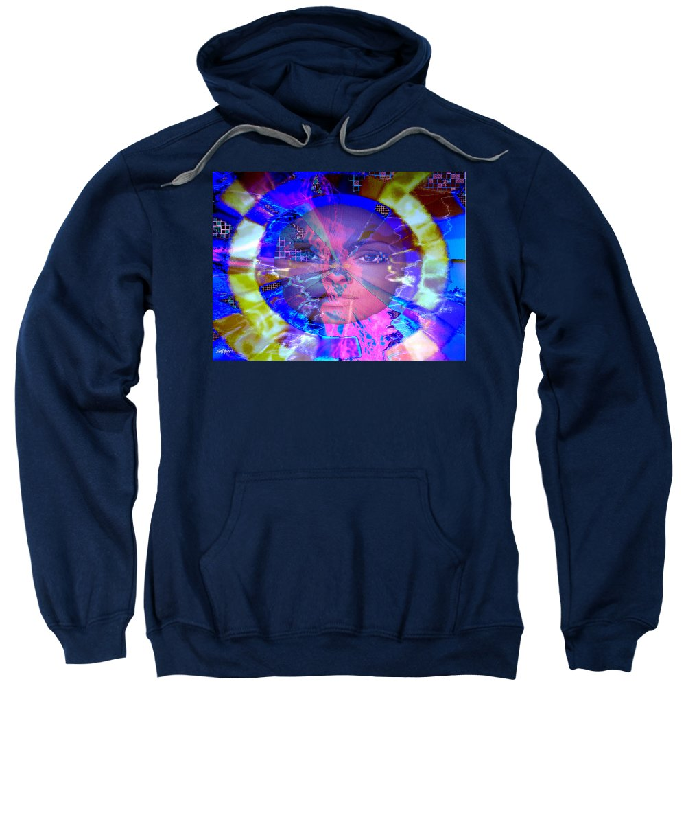 Congo Sweatshirt featuring the photograph Congo Queen Mandala by Seth Weaver